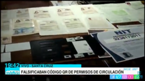 FELCC interviene un centro de falsificación de documentos en Santa Cruz