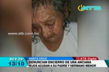 Denuncian encierro de una anciana por disputas de herencia familiar