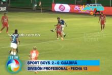 Sports Boys ganó 2-0 a Guabirá