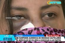 Suspenden audiencia cautelar de caso de violencia familiar