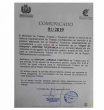 Disponen tolerancia y horario continuo por Urcupiña